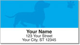 Wiener Dog Address Labels