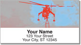 Sky Crane Helicopter Address Labels