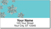 Wintry Flakes Address Labels