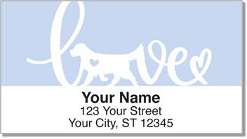 Retriever Love Address Labels