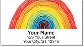 Licorice Rainbow Address Labels