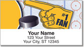 Blue & Gold Hockey Address Labels