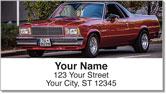 Classic Car Address Labels