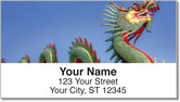 Chinese Dragon Address Labels