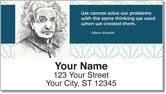 Albert Einstein Address Labels