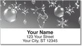Christmas Snowflake Address Labels