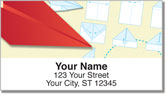 Paper Airplane Address Labels