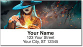 Halloween Witch Address Labels
