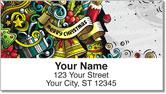 Christmas Doodle Address Labels