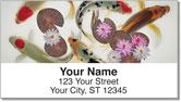 Koi Fish Address Labels