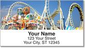 Amusement Park Ride Address Labels
