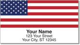 US Flag Address Labels