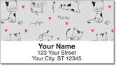 Cat Sketch Address Labels