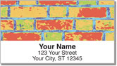 Colored Brick Address Labels