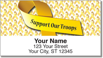 Support Our Troops Yellow Ribbon Address Labels