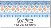 Christmas Cross Stitch Address Labels