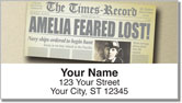 Amelia Earhart Address Labels