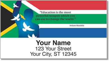 Nelson Mandela Quotes Return Address Labels