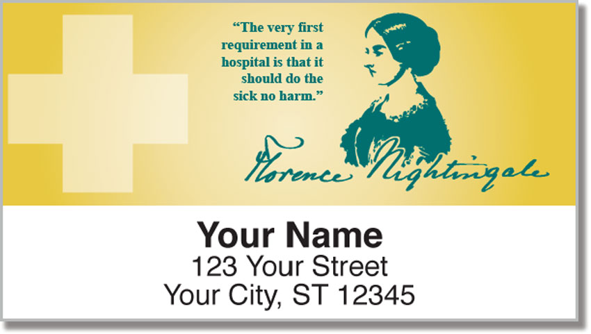 Florence Nightingale Return Address Labels