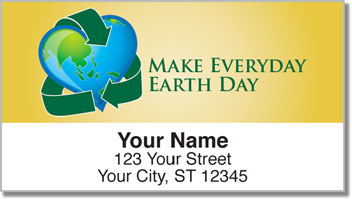 Earth Day Address Labels