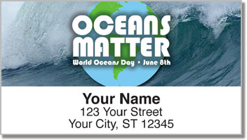 World Oceans Day Address Labels