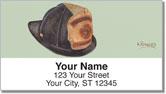Fire Helmet Address Labels