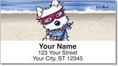 Beach Series Address Labels