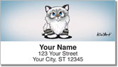 Cat Series 2 Address Labels by Kim Niles of KiniArt