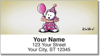 Clown KiniArt Series Address Labels