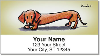 Doxie KiniArt Series Address Labels