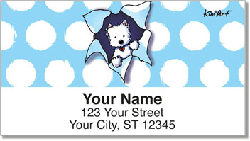 Westie KiniArt Series Address Labels