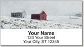 Colored Sky Address Labels