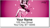 Martini Girl Address Labels