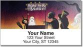 Halloween Art Address Labels