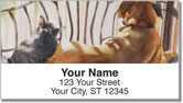 Dog and Cat Painting Address Labels
