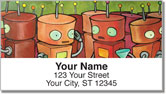 Robot Party Address Labels