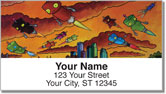 Robot World Address Labels