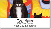 Contemplating Cats 4 Address Labels