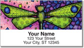 Dragonfly Art Address Labels