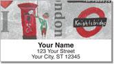 I Love London Address Labels