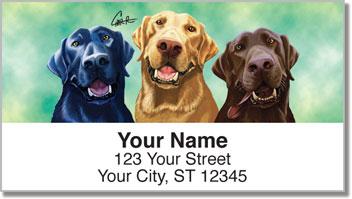 Labrador Retrievers of All Colors Address Labels