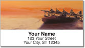 Aviation Art Address Labels