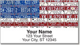 Americana License Plate Address Labels