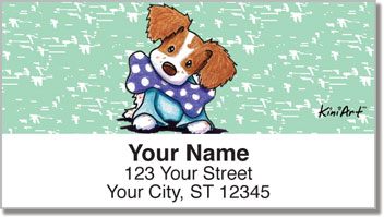 Brittany Spaniel KiniArt Series Address Labels