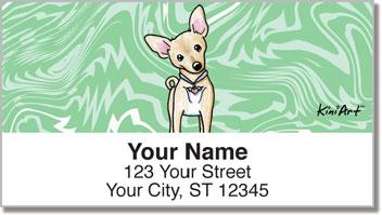 Chihuahua KiniArt Series 1 Address Labels