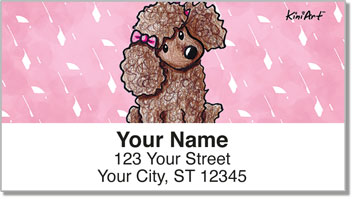 Poodle KiniArt Series Address Labels