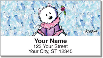 Westie Floral Address Labels