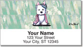 Westie Princess Address Labels