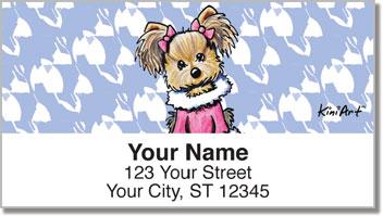 Yorkie KiniArt Series 1 Address Labels