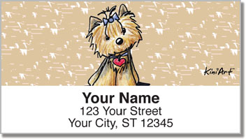 Yorkie KiniArt Series 2 Address Labels